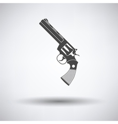 Revolver gun icon vector