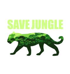 Save jungle concept vector