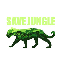 save jungle concept with vector image