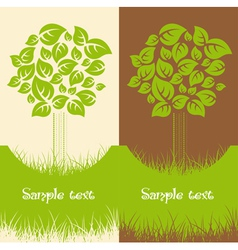 Set of two Nature backgrounds vector