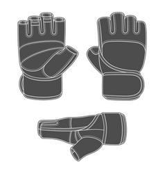 Set sports training gloves vector