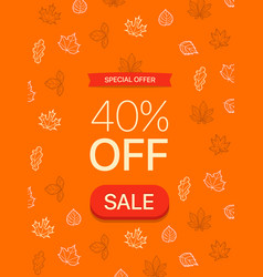 special offer concept fourty percent off vector image