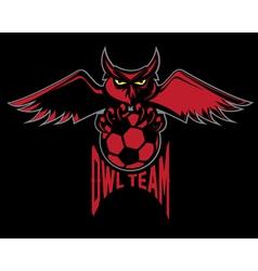 Sport football emblem owl team vector