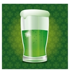 st patrick day green cold glass beer vector image