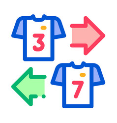Teams t-shirt exchange icon outline vector