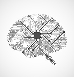 Technological brains Circuit board background vector image