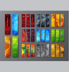 Templates vertical web banners with a vector