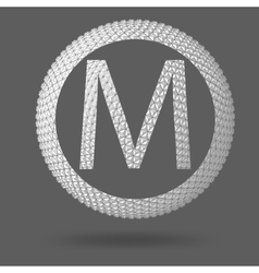 The letter M Polygonal letter Abstract Creative vector