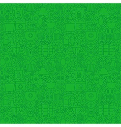 Thin Holiday Line Saint Patrick Day Green Seamless vector