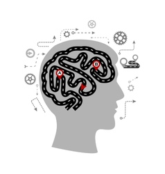Thought processes a human brain vector
