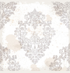 Vintage baroque pattern texture ornament vector
