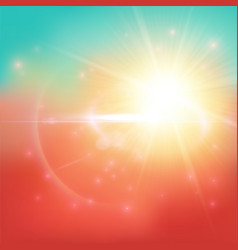 Warm summer background vector