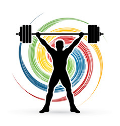 Weight lifting shape graphic vector