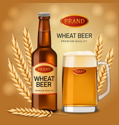 wheat beer quality concept background realistic vector image