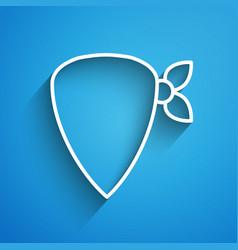 White line cowboy bandana icon isolated on blue vector
