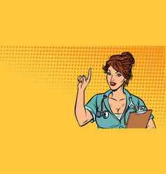 woman doctor medical profession vector image