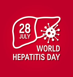 World hepatitis day concept in flat style vector