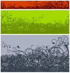 abstract calligraphic grunge color vector image vector image