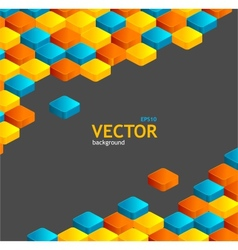 Abstract geometric and text vector