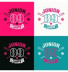 College baseball junior team emblem vector image