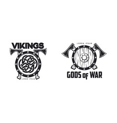 vikings icon logo simple flat isolated vector image