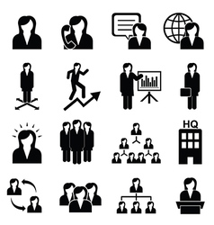 Business women icons vector image vector image