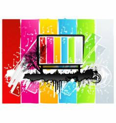 rainbow grunge sign vector image vector image