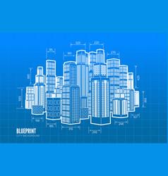 Building wireframe 3d render city vector
