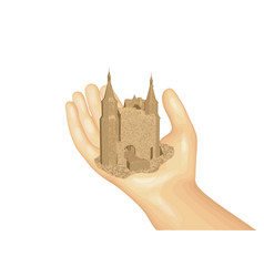castle on the hand vector image