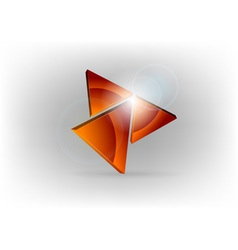 red triangles vector image
