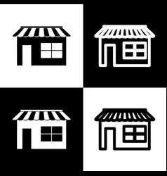 store sign black and white vector image vector image