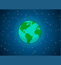 globe in space vector image vector image