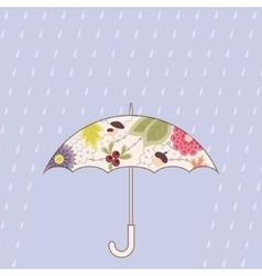Umbrella and rain vintage vector image vector image