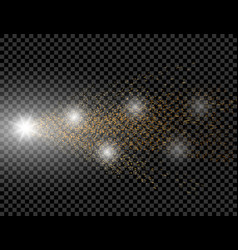 a golden wave of brilliant dots on a checkered vector image