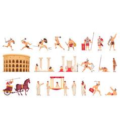 ancient rome set vector image