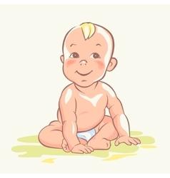 Baby cute child happy kid vector image