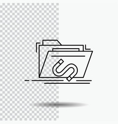 backdoor exploit file internet software line icon vector image