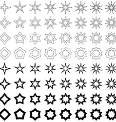 Black star shape collection vector