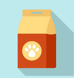 Carton dog packet icon flat style vector