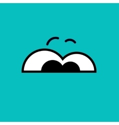 cartoon eyes Azur Eps10 vector image