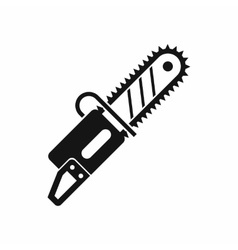 Chainsaw icon in simple style vector image