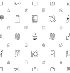 check icons pattern seamless white background vector image