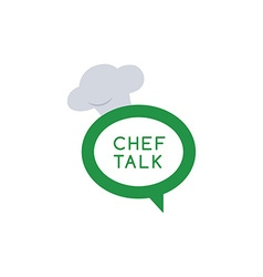 chef talk logotype vector image