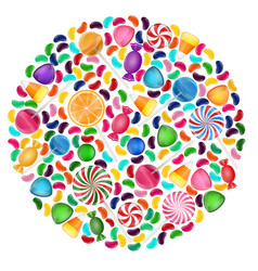 colorful candy background with concept circle vector image