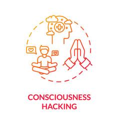 Consciousness hacking concept icon vector