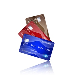 Credit cards isolated on white background vector image