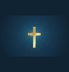 cross in glow vector image