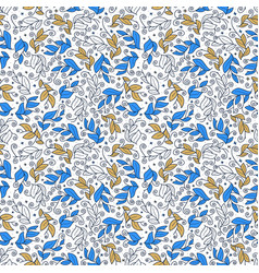 cute leaf seamless pattern abstract print with vector image