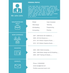 CV Curriculum Vitae Template vector image