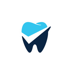 dental check logo icon vector image
